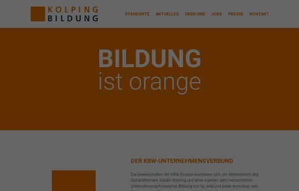 Vorschau von www.kolping-bildungswerk.de, Kolping Bildungswerk