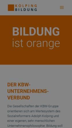 Vorschau der mobilen Webseite www.kolping-bildungswerk.de, Kolping Bildungswerk