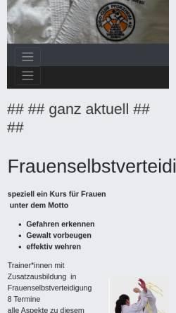 Vorschau der mobilen Webseite www.judo-club-pforzheim.de, JC Pforzheim