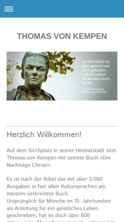Vorschau der mobilen Webseite www.thomas-von-kempen.de, Thomas von Kempen