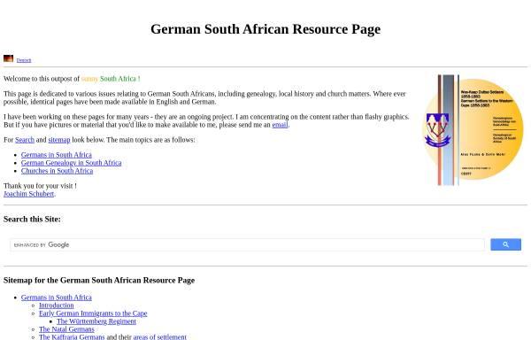 Vorschau von www.safrika.org, Deutsche in Südafrika - Familienforschung