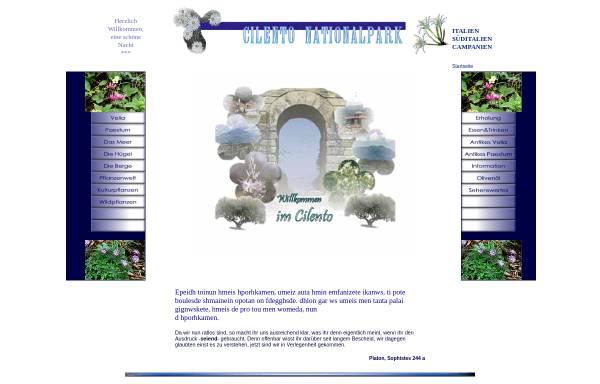 Vorschau von www.cilento-nationalpark.de, Cilento Nationalpark