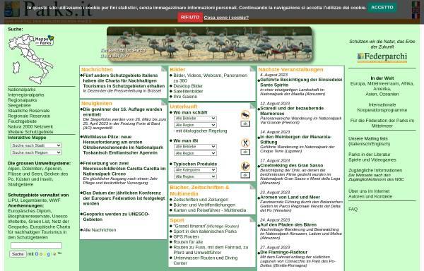 Vorschau von www.parks.it, Parks.it - Portal der italienischen Parks