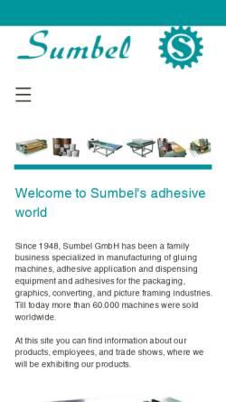 Vorschau der mobilen Webseite www.sumbel.de, Sumbel GmbH