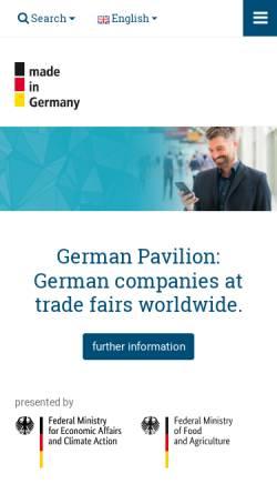 Vorschau der mobilen Webseite www.german-pavilion.com, German-Pavilion