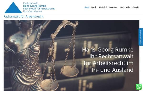Vorschau von fachanwalt-arbeitsrecht.de, Hans-Georg Rumke - Rechtsanwalt