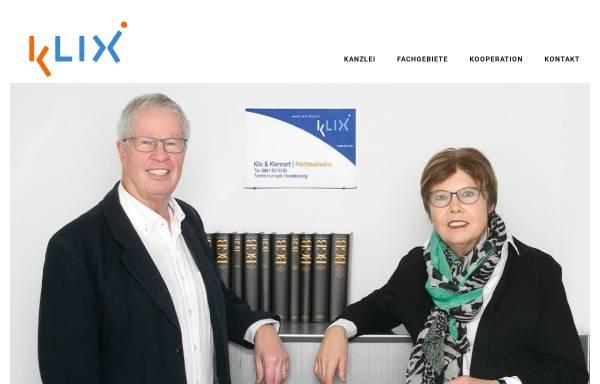 Vorschau von www.klix.de, Rechtsanwälte Dr. Klix & Partner