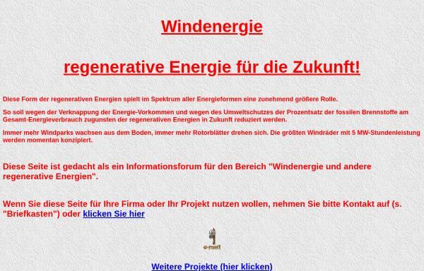 Vorschau von www.interrete.de, Windenergie - regenerative Energie für die Zukunft