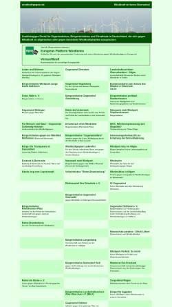 Vorschau der mobilen Webseite www.windkraftgegner.de, Windkraftgegner im Internet