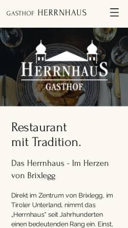 Vorschau der mobilen Webseite www.herrnhaus.at, Herrnhaus.de