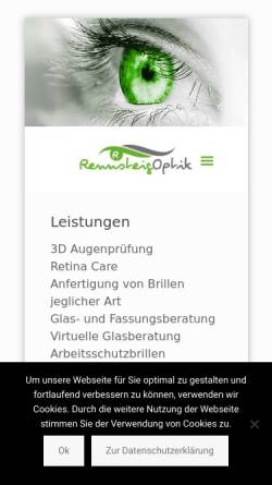 Vorschau der mobilen Webseite www.rennsteig-optik.de, Rennsteig-Optik Inh. Dieter Halle