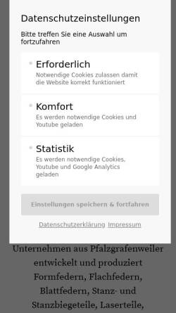 Vorschau der mobilen Webseite www.gutekunst-kg.de, Gutekunst Stahlverformung KG