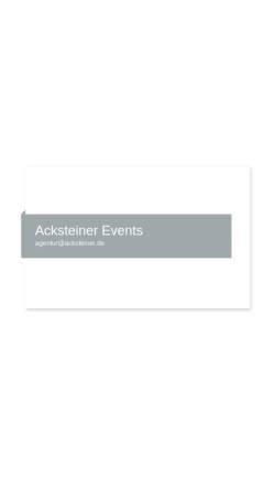 Vorschau der mobilen Webseite www.acksteinerevents.de, Acksteiner Events GmbH & Co. KG