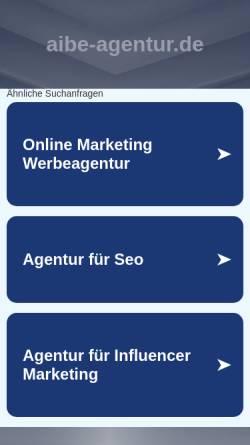 Vorschau der mobilen Webseite www.aibe-agentur.de, AiBE ver-rückte Konzepte