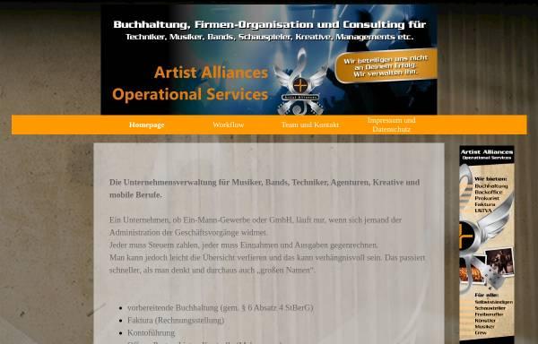 Vorschau von www.artistalliances.com, Artist Alliances - Jennifer Seibold und Marcus Pohl GbR