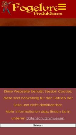 Vorschau der mobilen Webseite fogelvrei.de, Fogelvrei Produktionen
