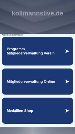 Vorschau der mobilen Webseite kollmannslive.de, Kollmanns