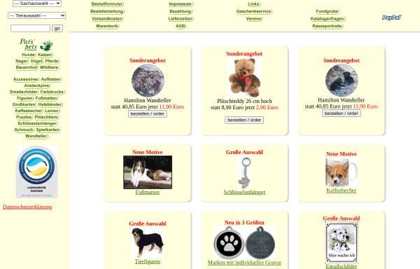 Vorschau von www.pats-pets.de, Pats Pets