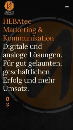 Vorschau der mobilen Webseite www.hebatec.de, HEBAtec Internet Systems