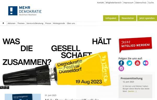 Vorschau von nrw.mehr-demokratie.de, Mehr Demokratie in NRW