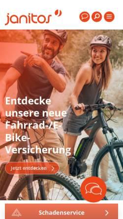 Vorschau der mobilen Webseite www.janitos.de, Janitos Versicherung AG