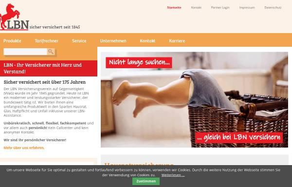 Vorschau von www.lbn.de, LBN LehrerBrandkasse Niedersachsen Versicherungsverein a.G.