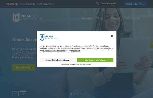 Vorschau von www.roland-rechtsschutz.de, Roland-Unternehmensgruppe