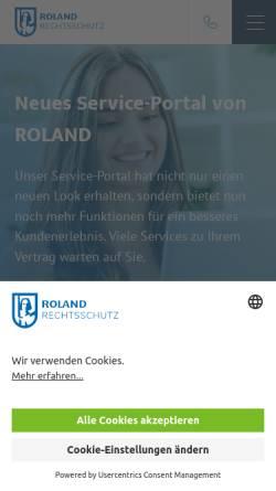 Vorschau der mobilen Webseite www.roland-rechtsschutz.de, Roland-Unternehmensgruppe