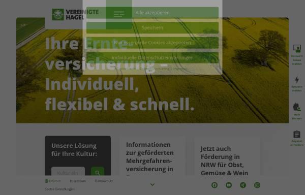Vorschau von www.vereinigte-hagel.net, Vereinigte Hagelversicherung VVag