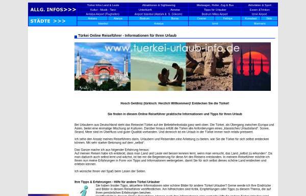 Vorschau von www.tuerkei-urlaub-info.de, Reiseführer