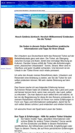 Vorschau der mobilen Webseite www.tuerkei-urlaub-info.de, Reiseführer