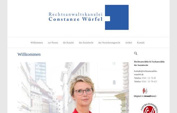 Vorschau von www.rechtsanwaeltin-wuerfel.de, Würfel, Constanze