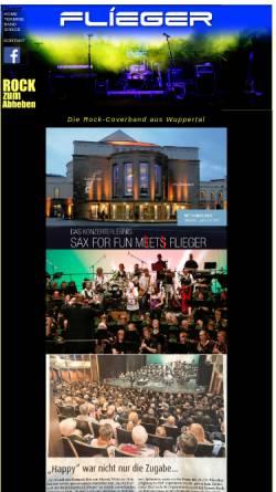 Vorschau der mobilen Webseite www.fliegerlive.de, Flieger