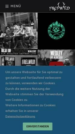 Vorschau der mobilen Webseite www.frei-wild.net, Frei.wild