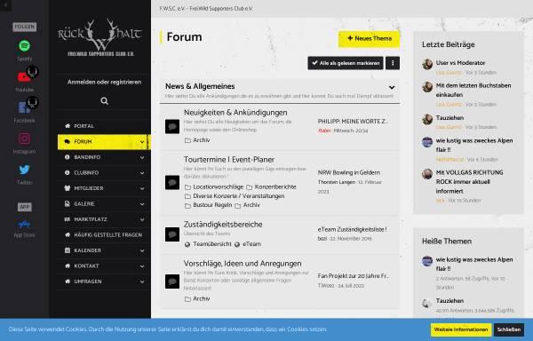 Vorschau von www.frei-wild.ch, Frei.Wild - Supporters Club