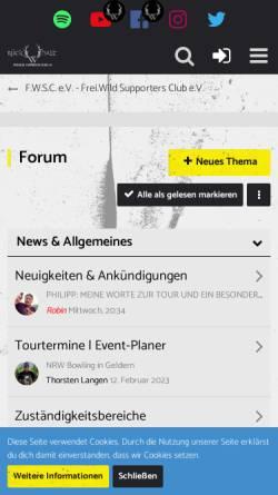 Vorschau der mobilen Webseite www.frei-wild.ch, Frei.Wild - Supporters Club