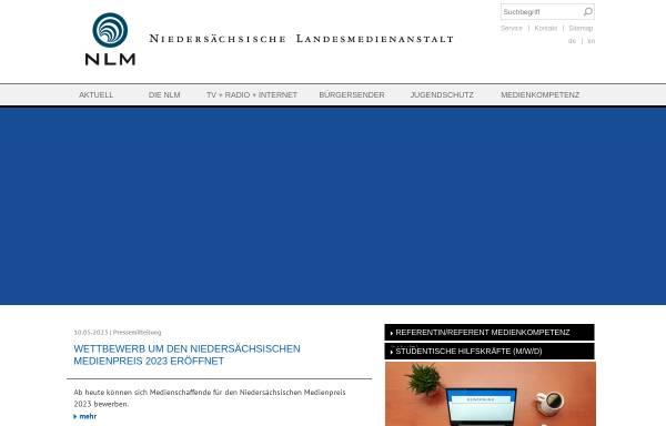 Vorschau von www.nlm.de, Niedersächsische Landesmedienanstalt - NLM