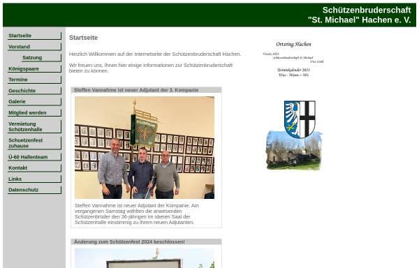Vorschau von www.schuetzenbruderschaft-hachen.de, Schützenbruderschaft St. Michael Hachen e.V.