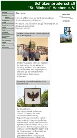 Vorschau der mobilen Webseite www.schuetzenbruderschaft-hachen.de, Schützenbruderschaft St. Michael Hachen e.V.