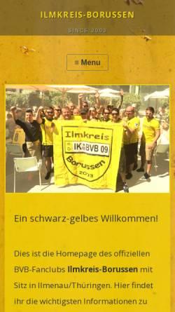 Vorschau der mobilen Webseite www.ik-bvb.de, Ilmkreis Borussen