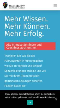 Vorschau der mobilen Webseite www.pack-mtc.de, Margit Pack Management Training & Coaching
