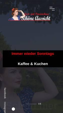 Vorschau der mobilen Webseite www.schoene-aussicht-lemgo.de, Schöne Aussicht Lemgo