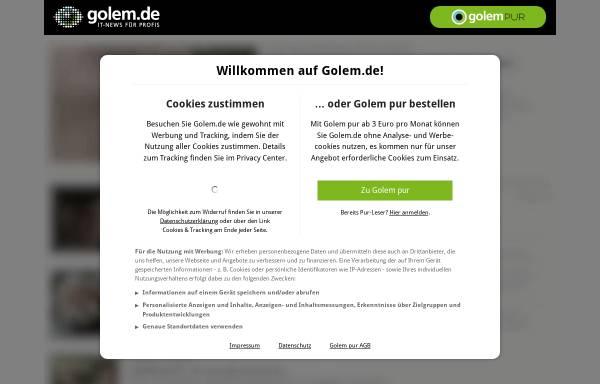 Vorschau von www.golem.de, Golem.de - Wuff: Sony kündigt dritte AIBO-Generation an