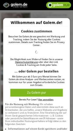 Vorschau der mobilen Webseite www.golem.de, Golem.de - Wuff: Sony kündigt dritte AIBO-Generation an