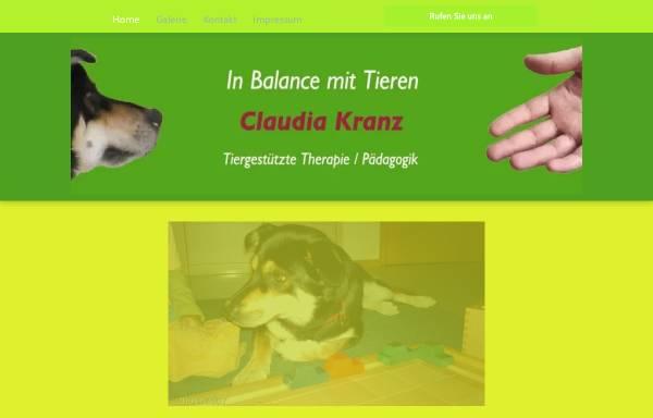 Vorschau von www.in-balance-mit-tieren.de, In Balance mit Tieren - Claudia Kranz
