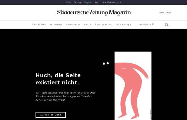 Vorschau von sz-magazin.sueddeutsche.de, Süddeutsche Zeitung Rätsel