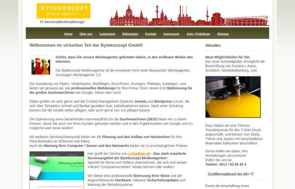 Vorschau von bytekonzept.de, Bytekonzept Medienagentur GmbH
