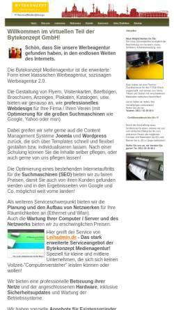 Vorschau der mobilen Webseite bytekonzept.de, Bytekonzept Medienagentur GmbH