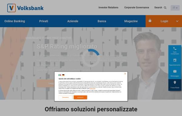 Vorschau von www.volksbank.it, Südtiroler Volksbank Gen.m.b.H.