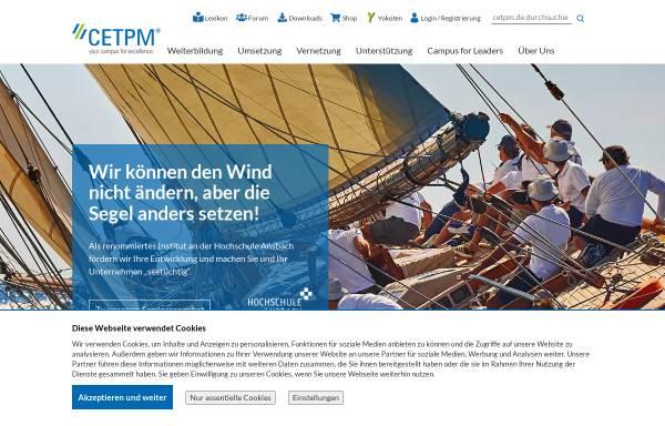 Vorschau von www.cetpm.de, Centre of Excellence for TPM